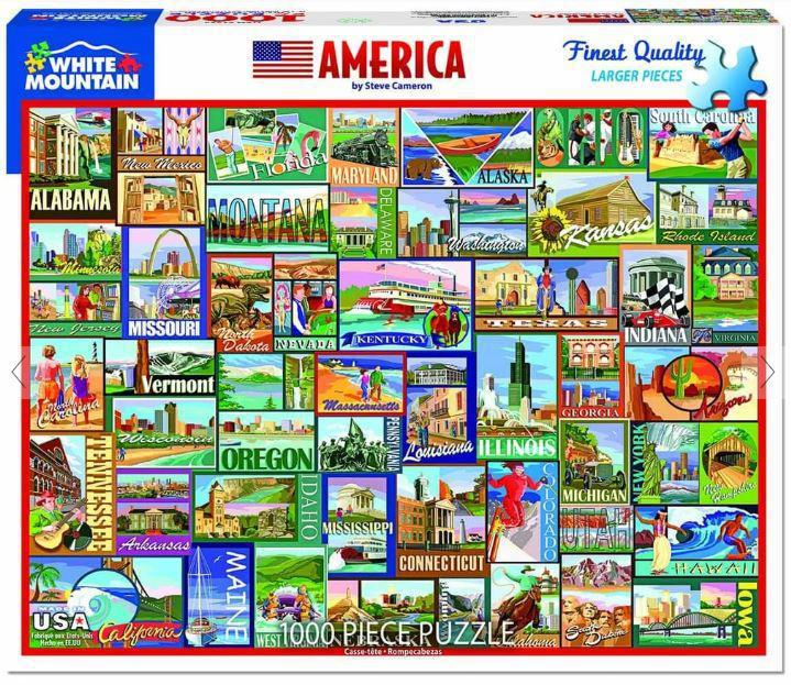 America 1000 Piece Jigsaw Puzzle by White Mountain Puzzle