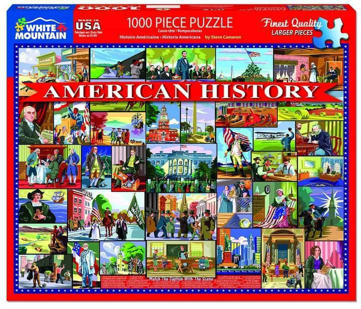 American History 1000 Piece Jigsaw Puzzle by White Mountain Puzzles