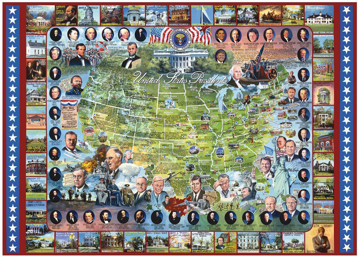 American Presidents 1000 Piece Jigsaw Puzzle by White Mountain Puzzle