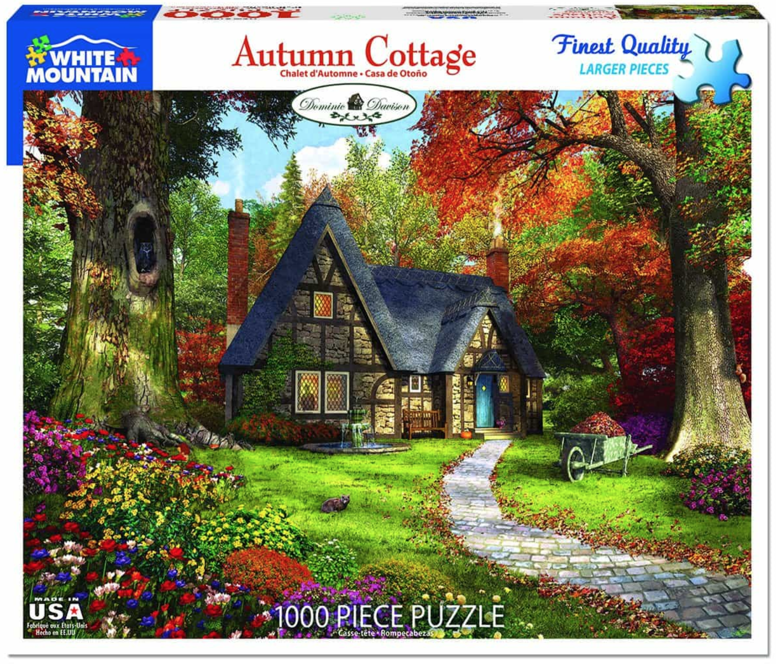 Autumn Cottage 1000 Piece Jigsaw Puzzle by White Mountain Puzzles