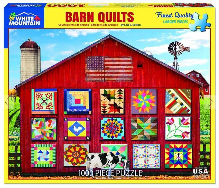 Barn Quilts 1000 Piece Jigsaw Puzzle by White Mountain Puzzle