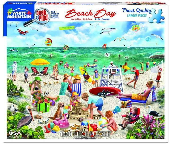Beach Day 1000 Piece Jigsaw Puzzle by White Mountain Puzzles