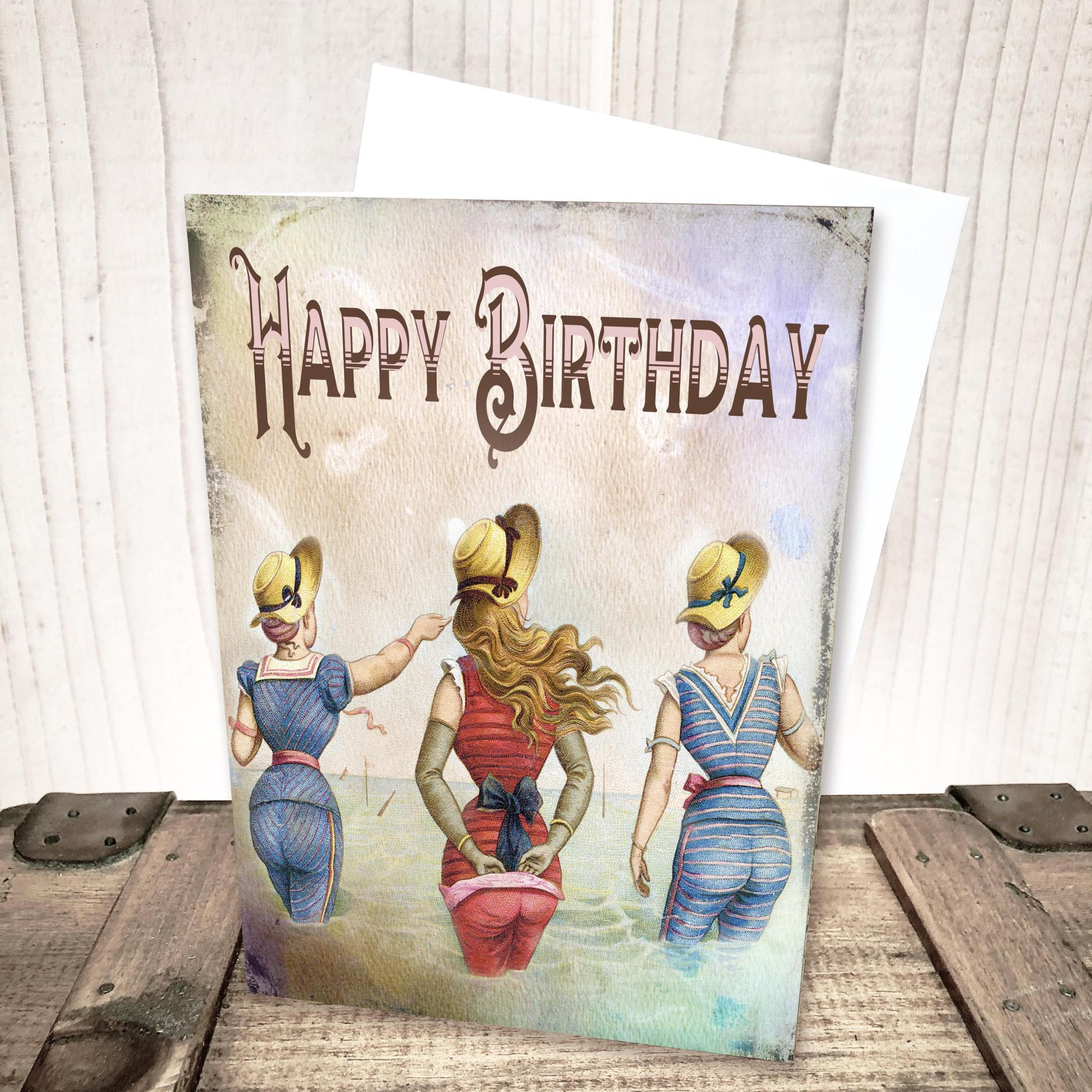 Beach Ladies Best Friends Birthday Card by Yesterday's Best