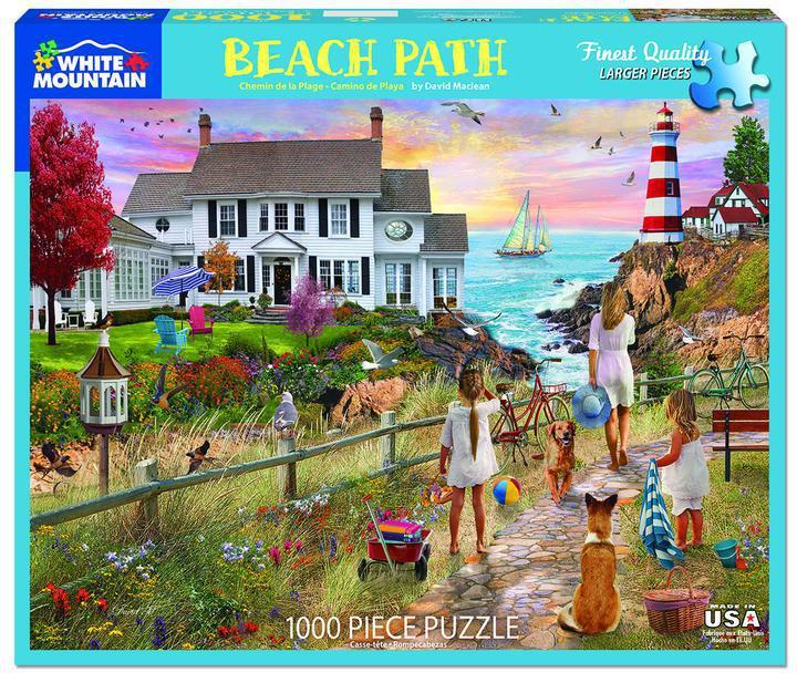 Beach Path 1000 Piece Jigsaw Puzzle by White Mountain Puzzles