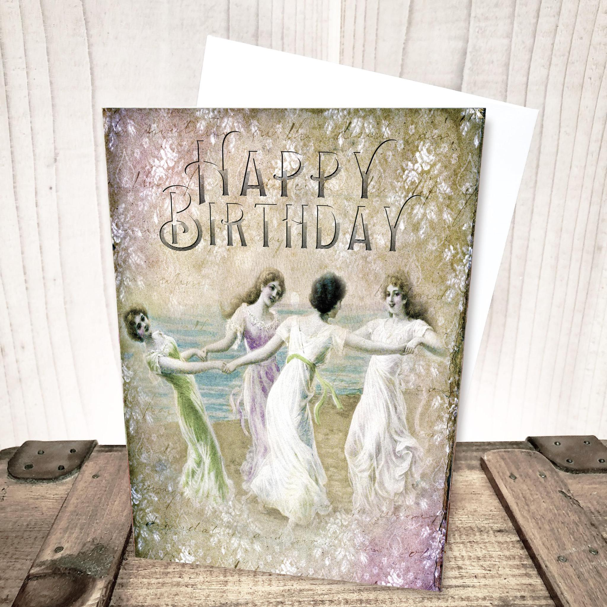 Beauties at the Beach Birthday Card by Yesterday's Best