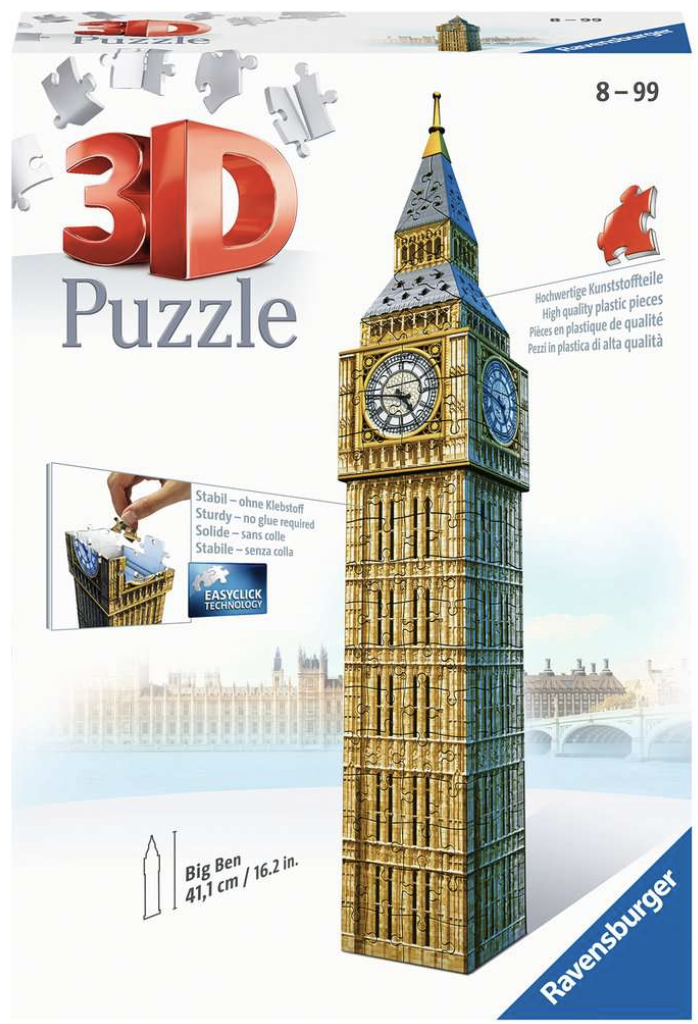Big Ben London 216 Piece 3D Puzzle by Ravensburger