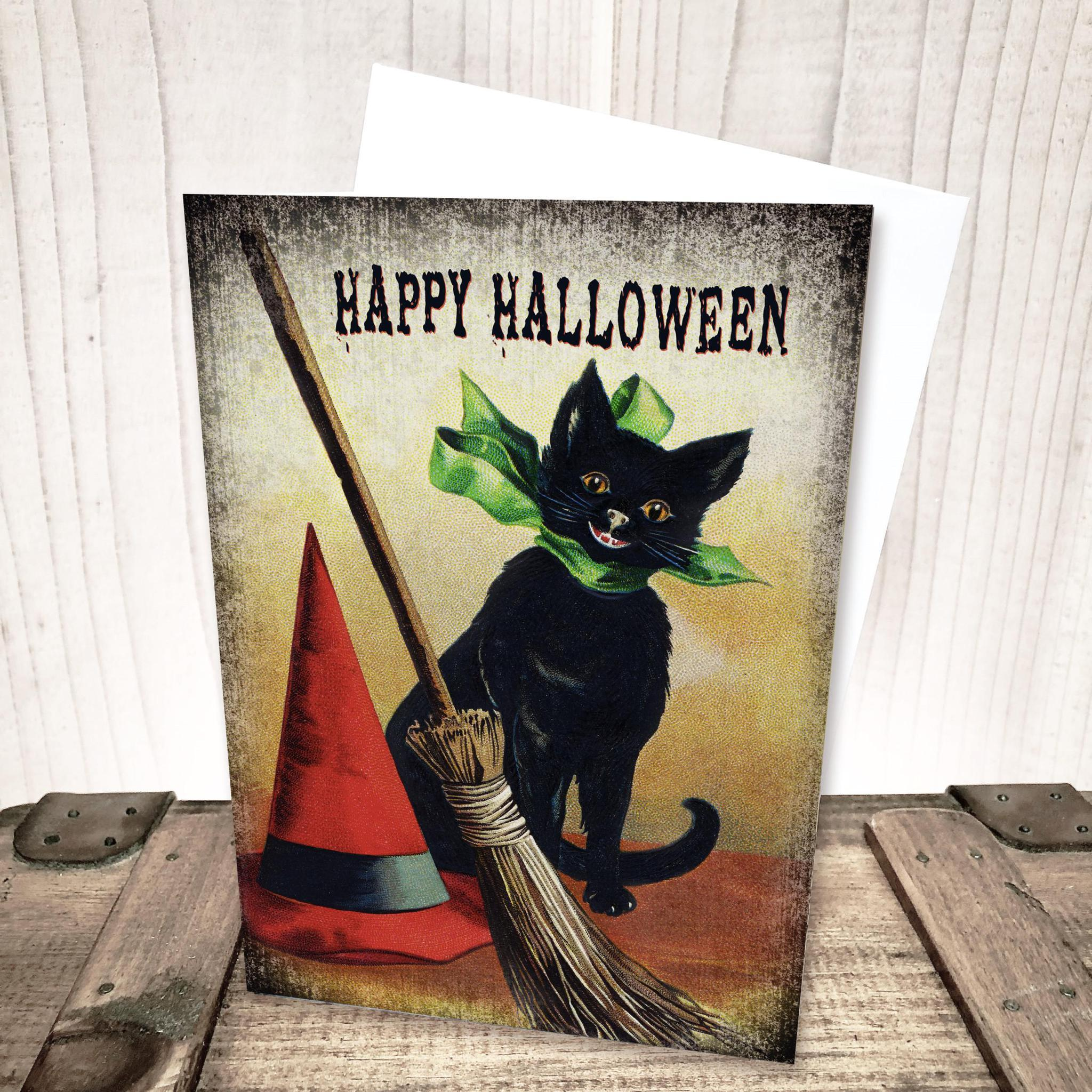 Black Cat Halloween Card by Yesterday's Best
