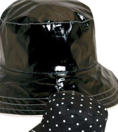 Reversible Women's Rain Hat Black