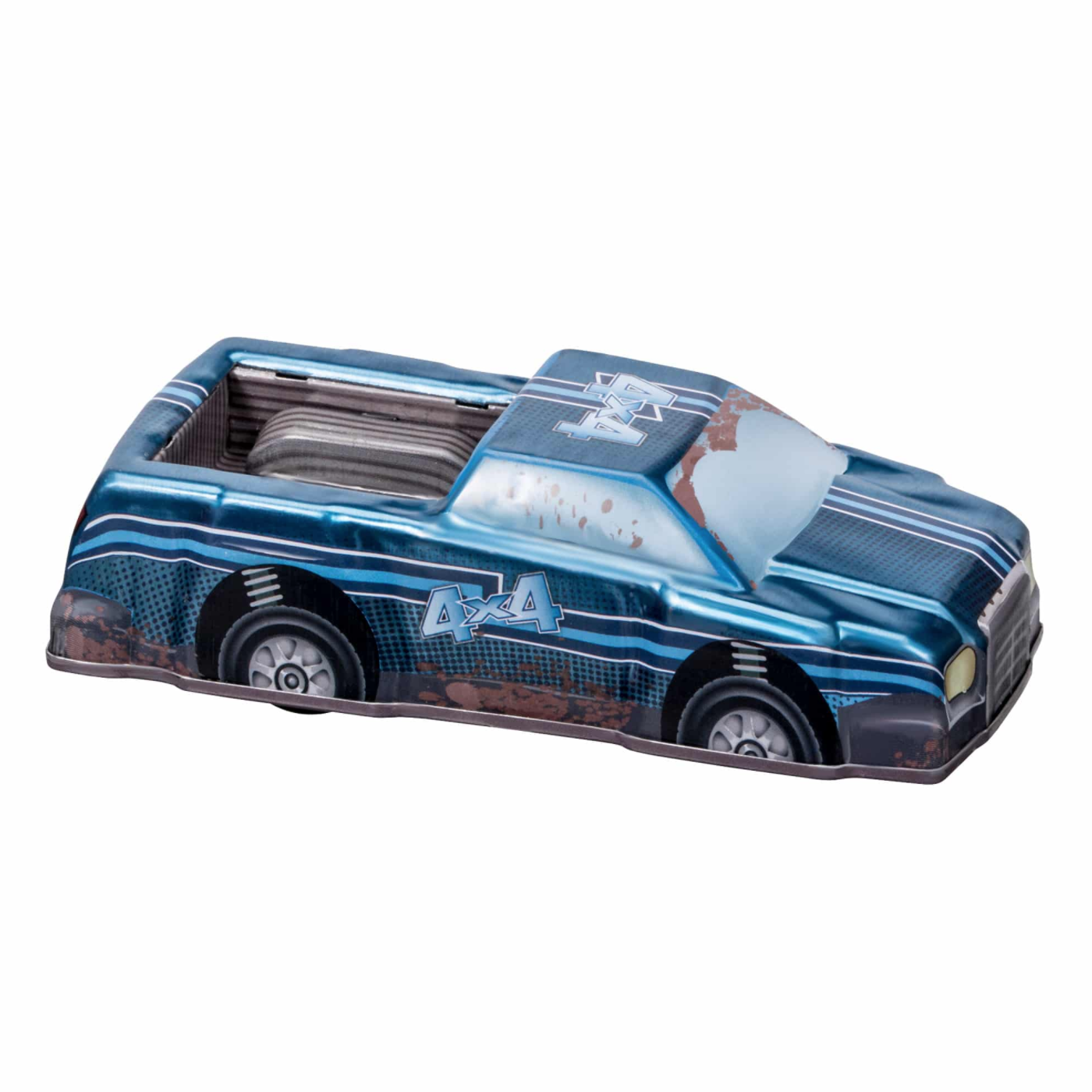 Rev-Up Racers Tin Trucks Blue 4x4