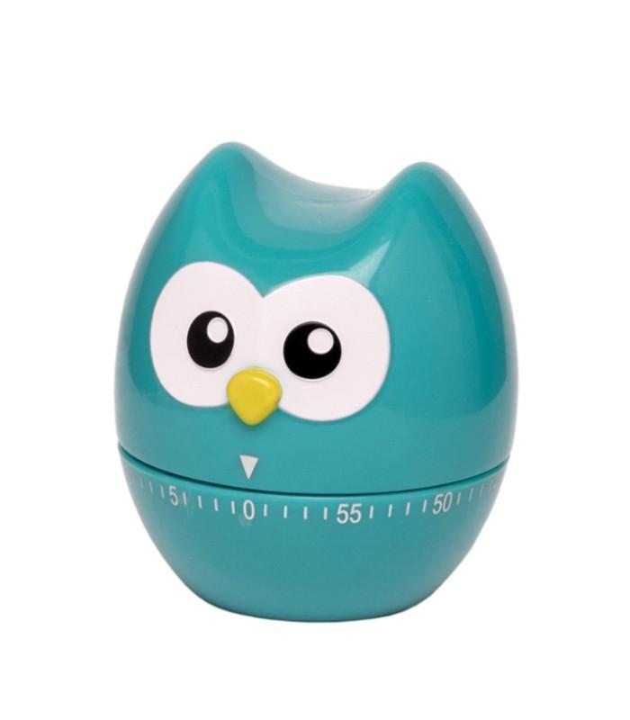 60 Minute Kitchen Timer Hoot Owl Blue