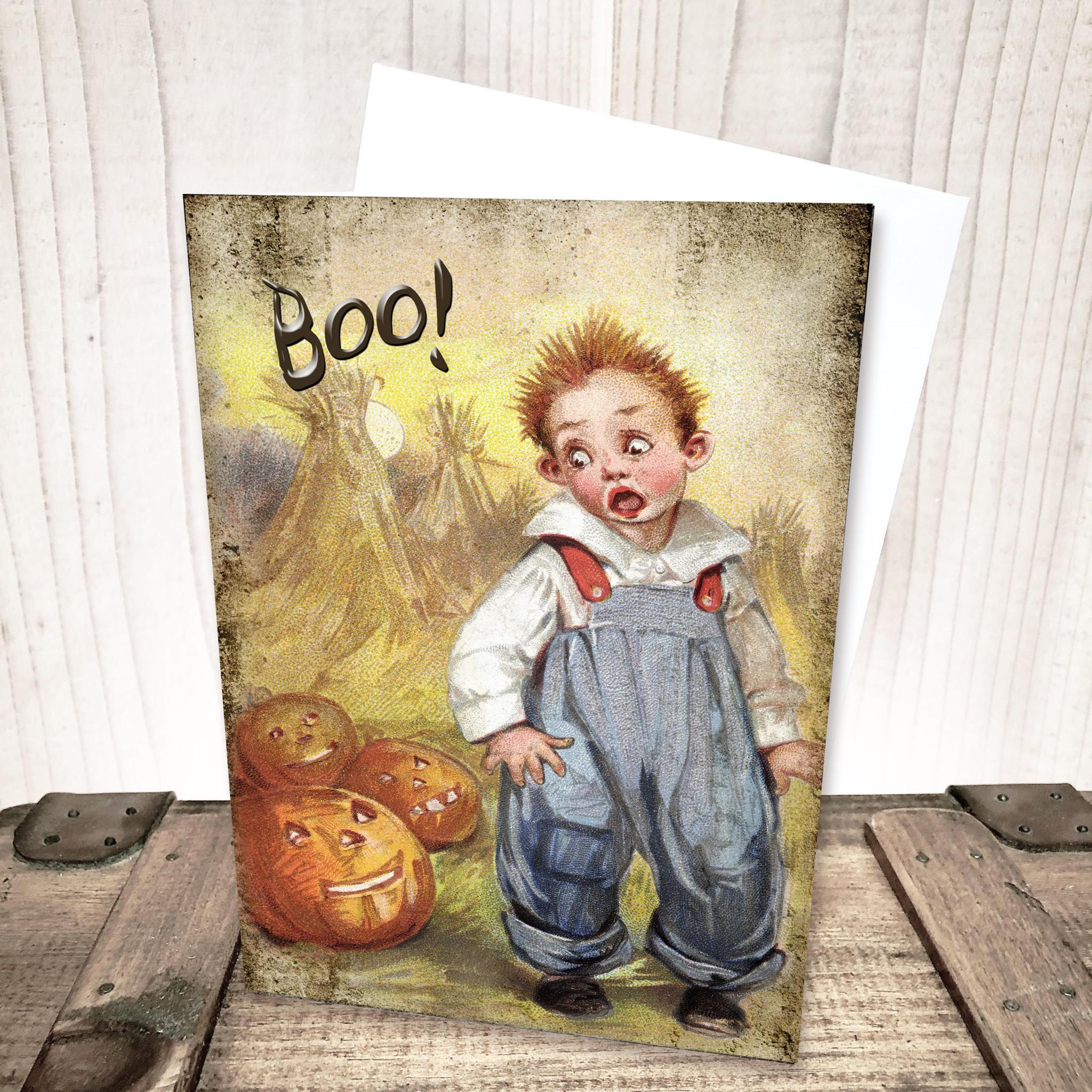 Boo Halloween Card by Yesterday's Best