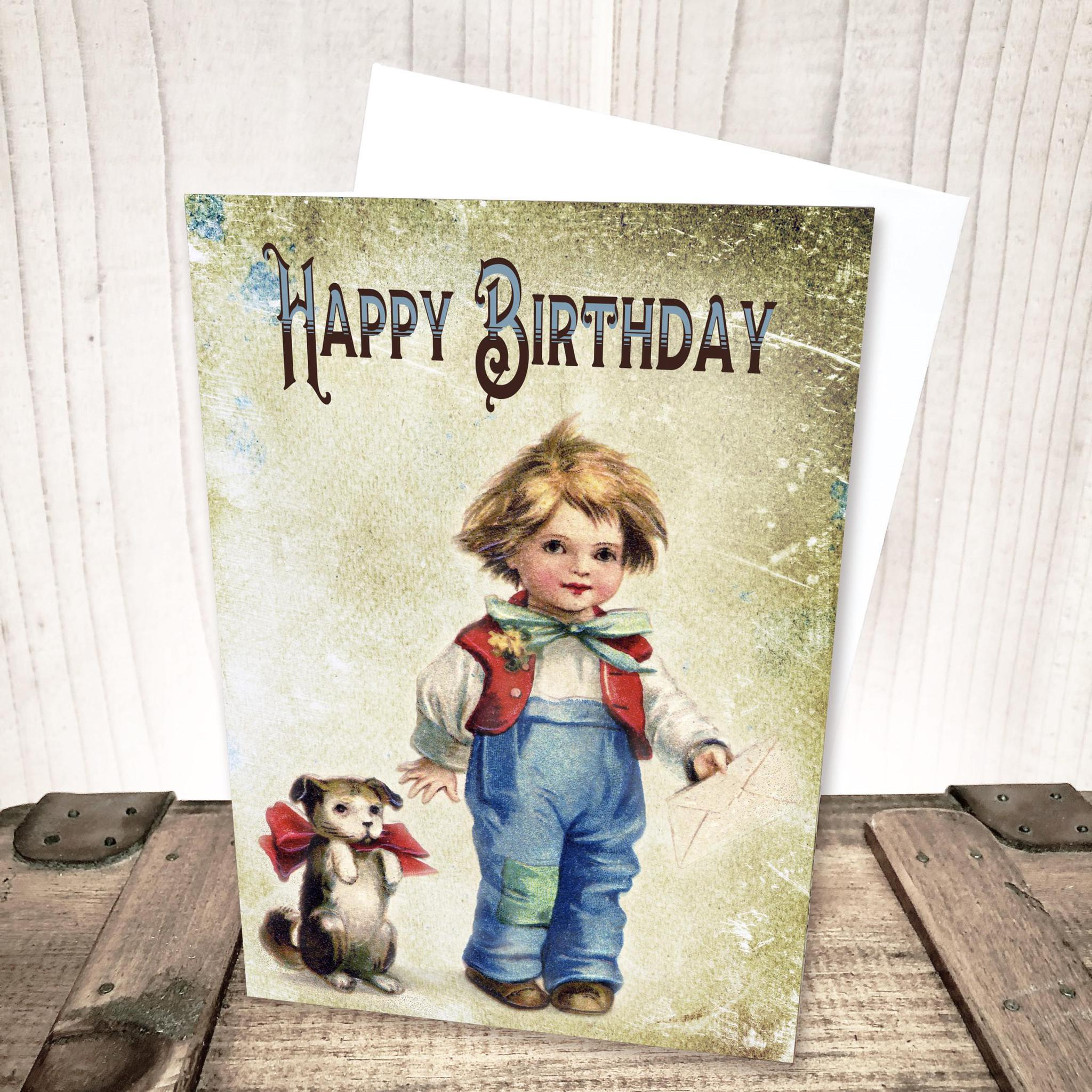 Boy Happy Birthday Card by Yesterday's Best
