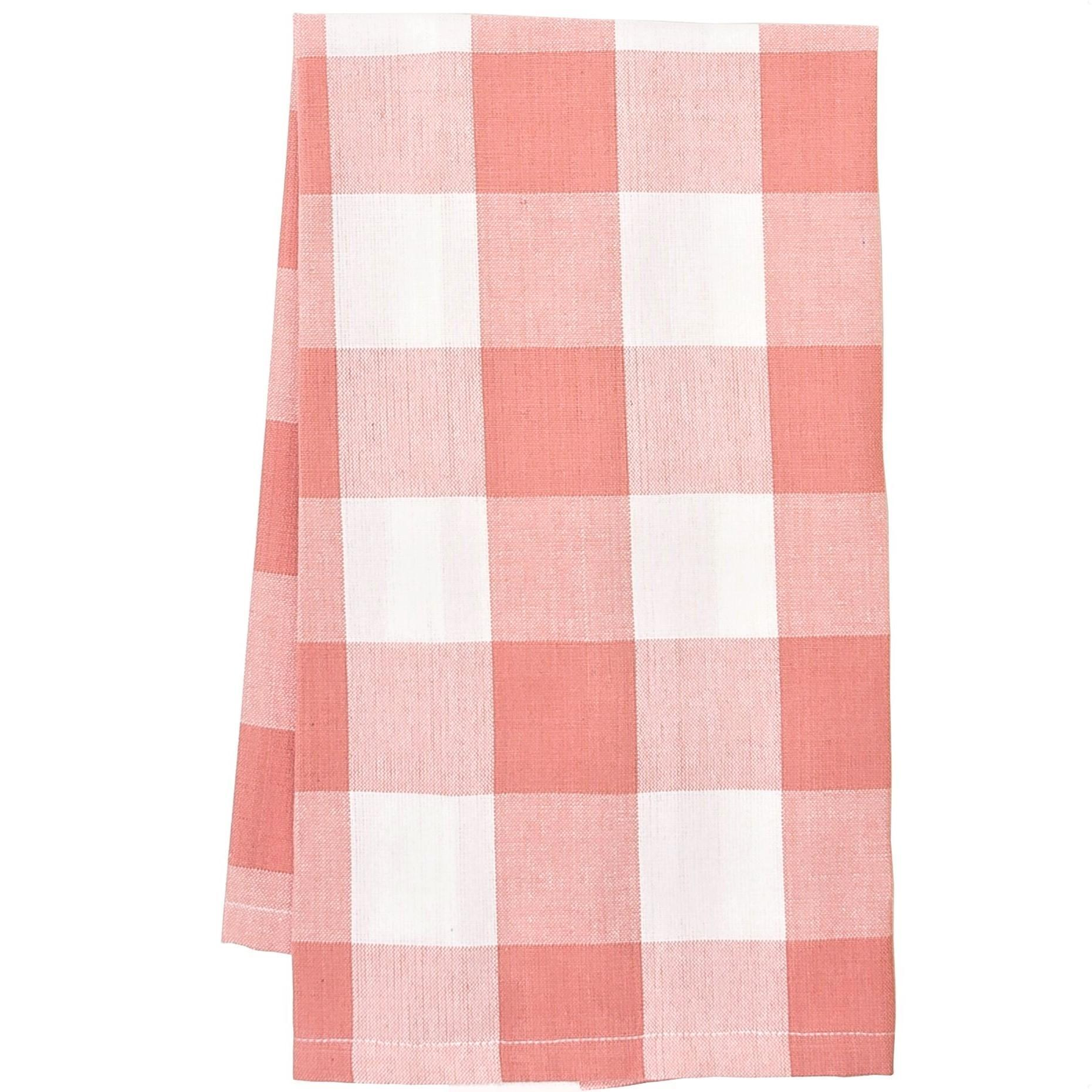 Buffalo Check Kitchen Dishtowel Peony