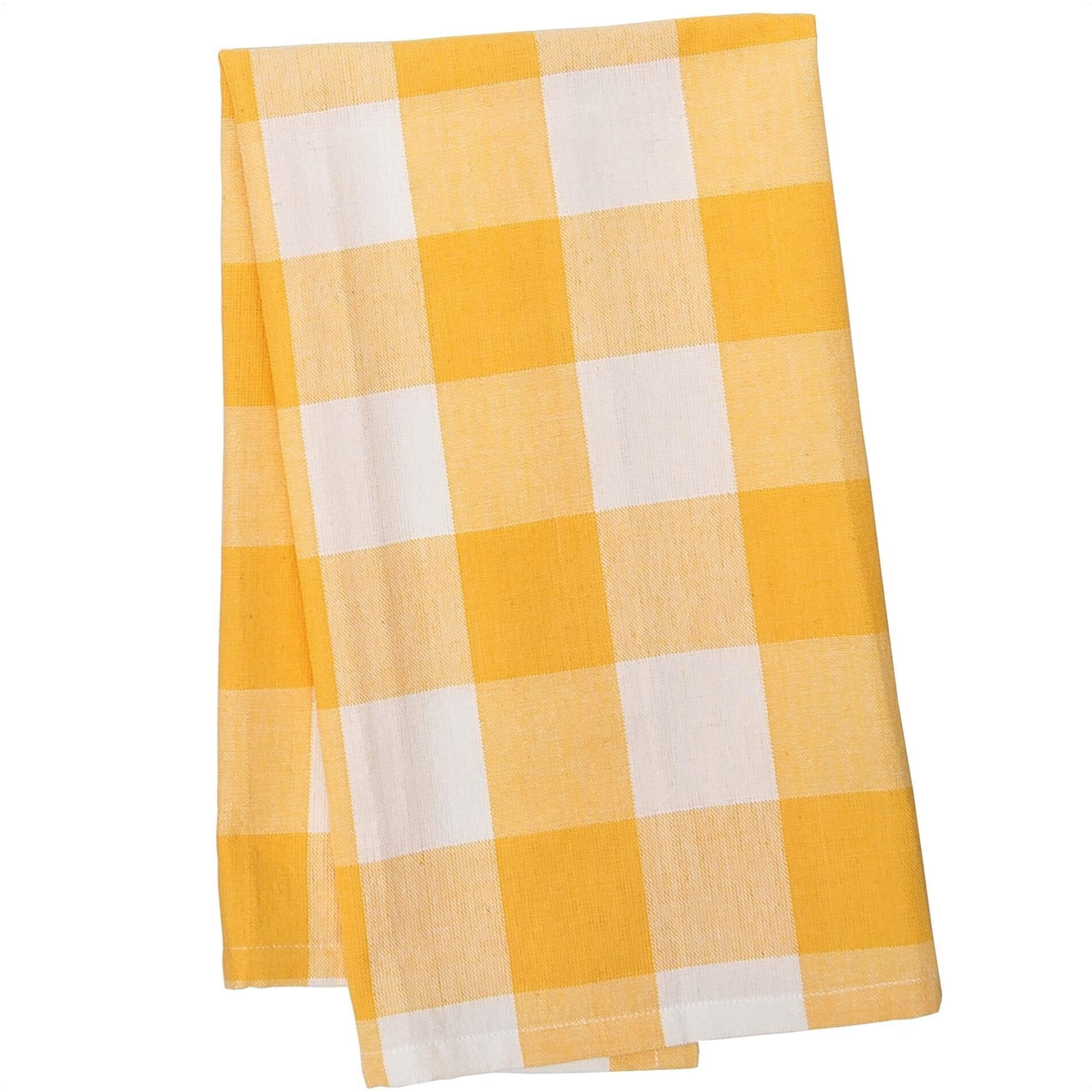 Buffalo Check Kitchen Dishtowel Sunrise