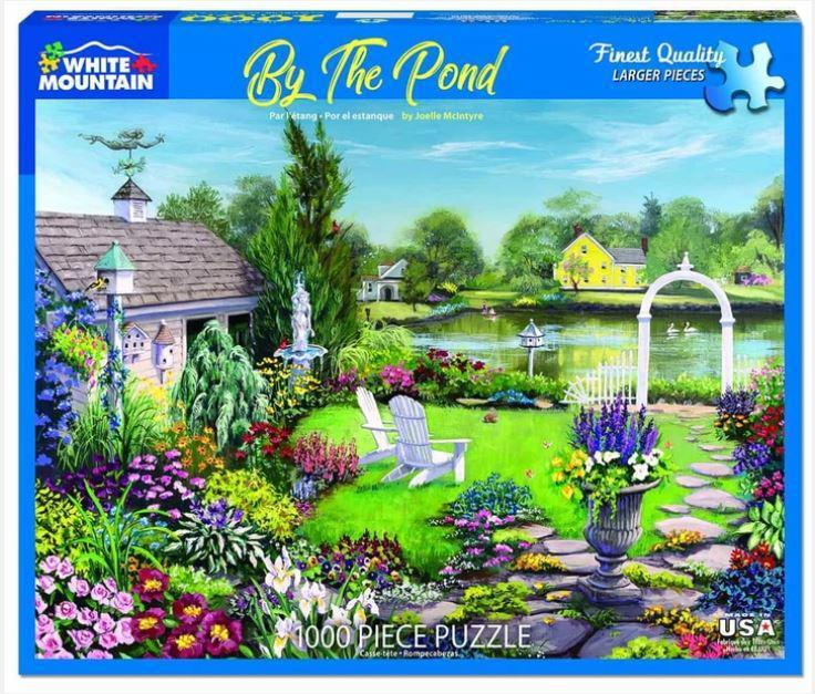 By the Pond 1000 Piece Jigsaw Puzzle by White Mountain Puzzle