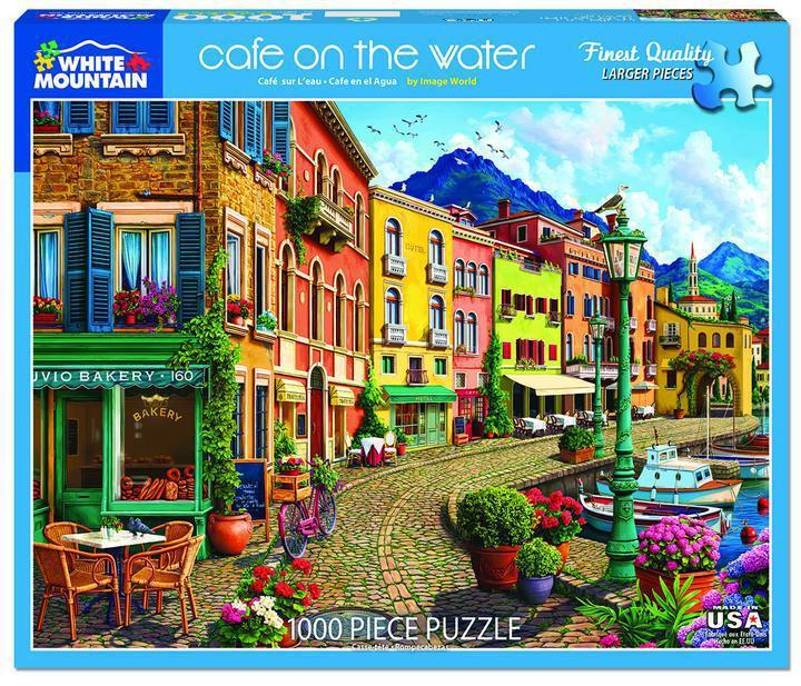 Cafe on the Water 1000 Piece Jigsaw Puzzle by White Mountain Puzzles