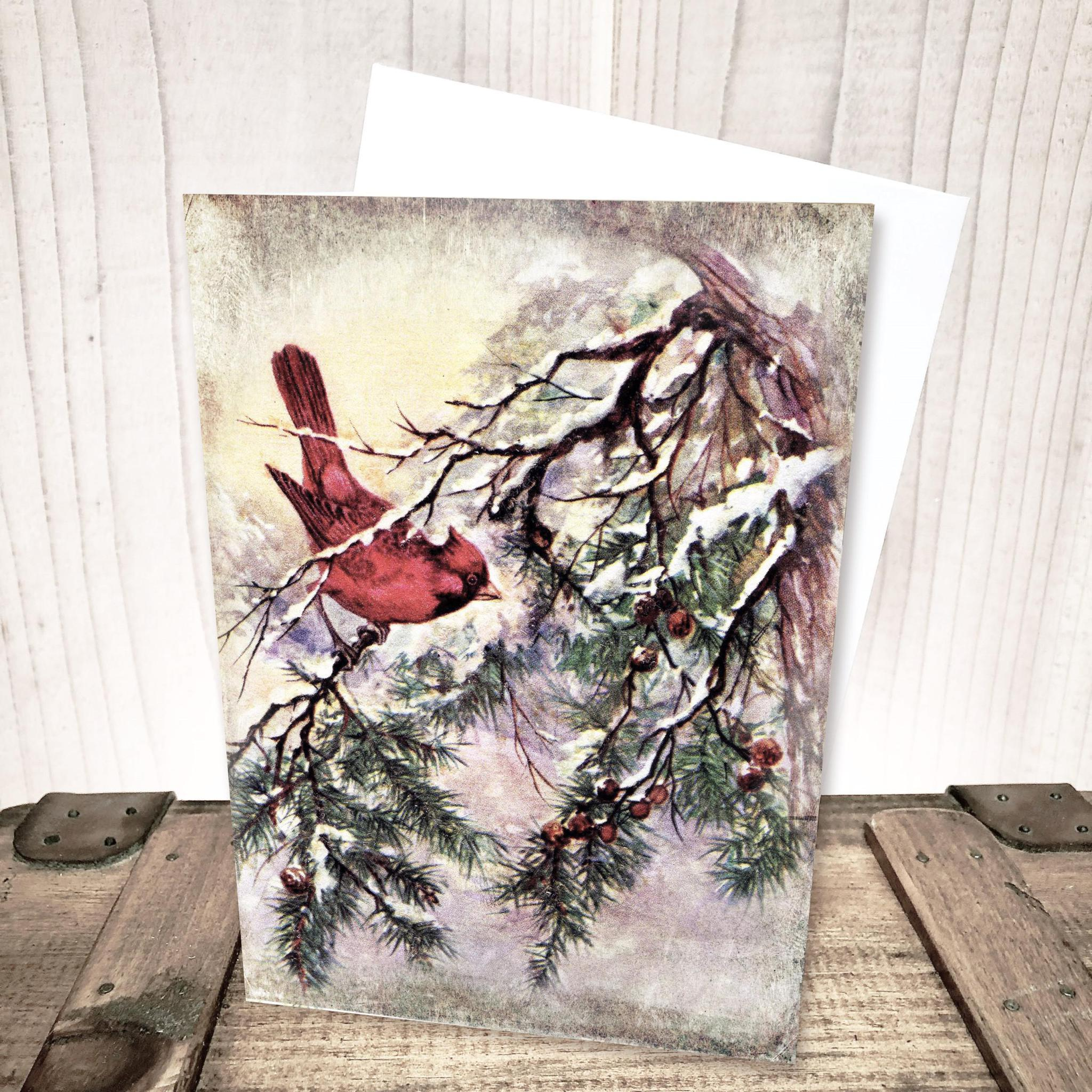Cardinal Winter Christmas Card by Yesterday's Best