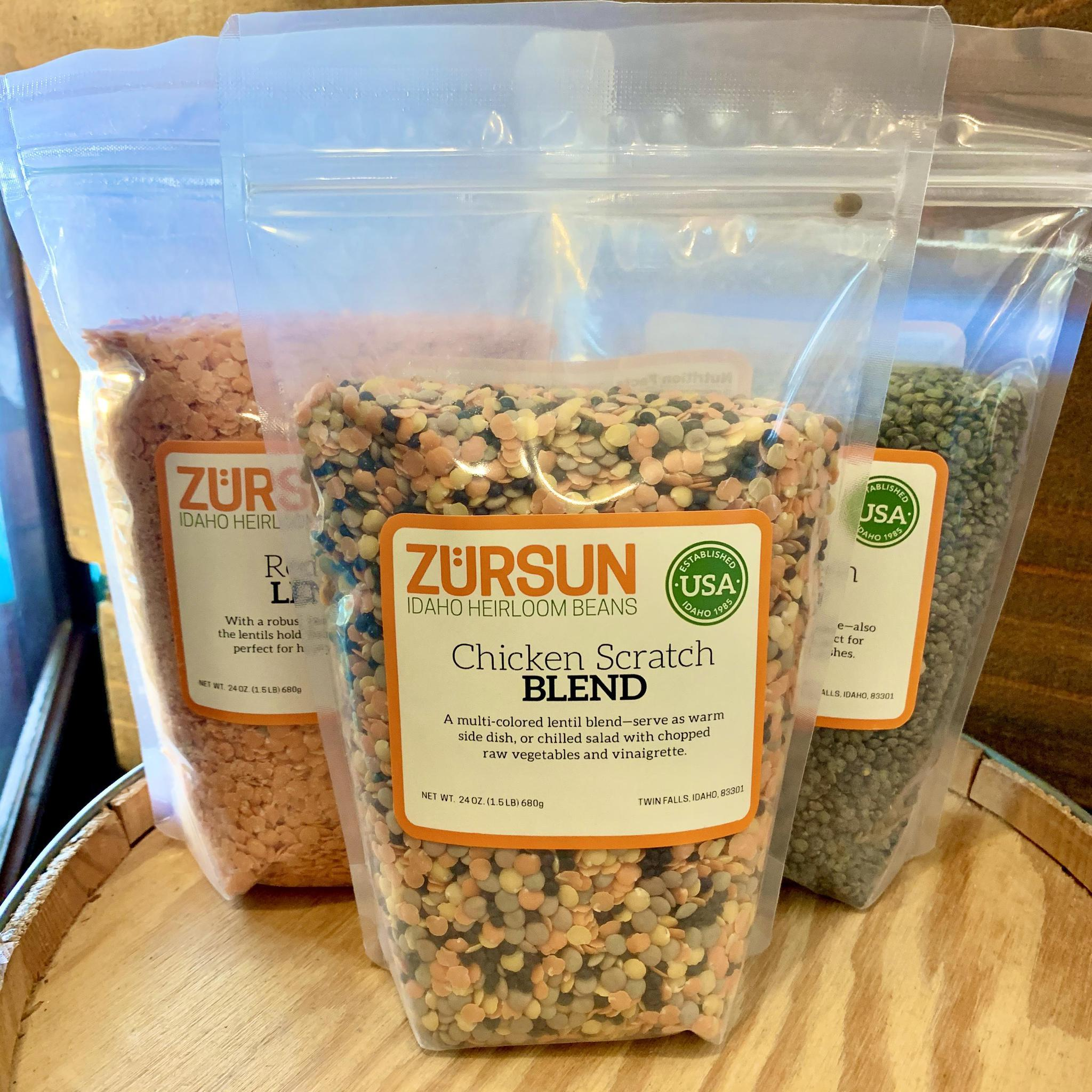 Lentil Blends by Zürsun Idaho Heirloom Beans Chicken Scratch