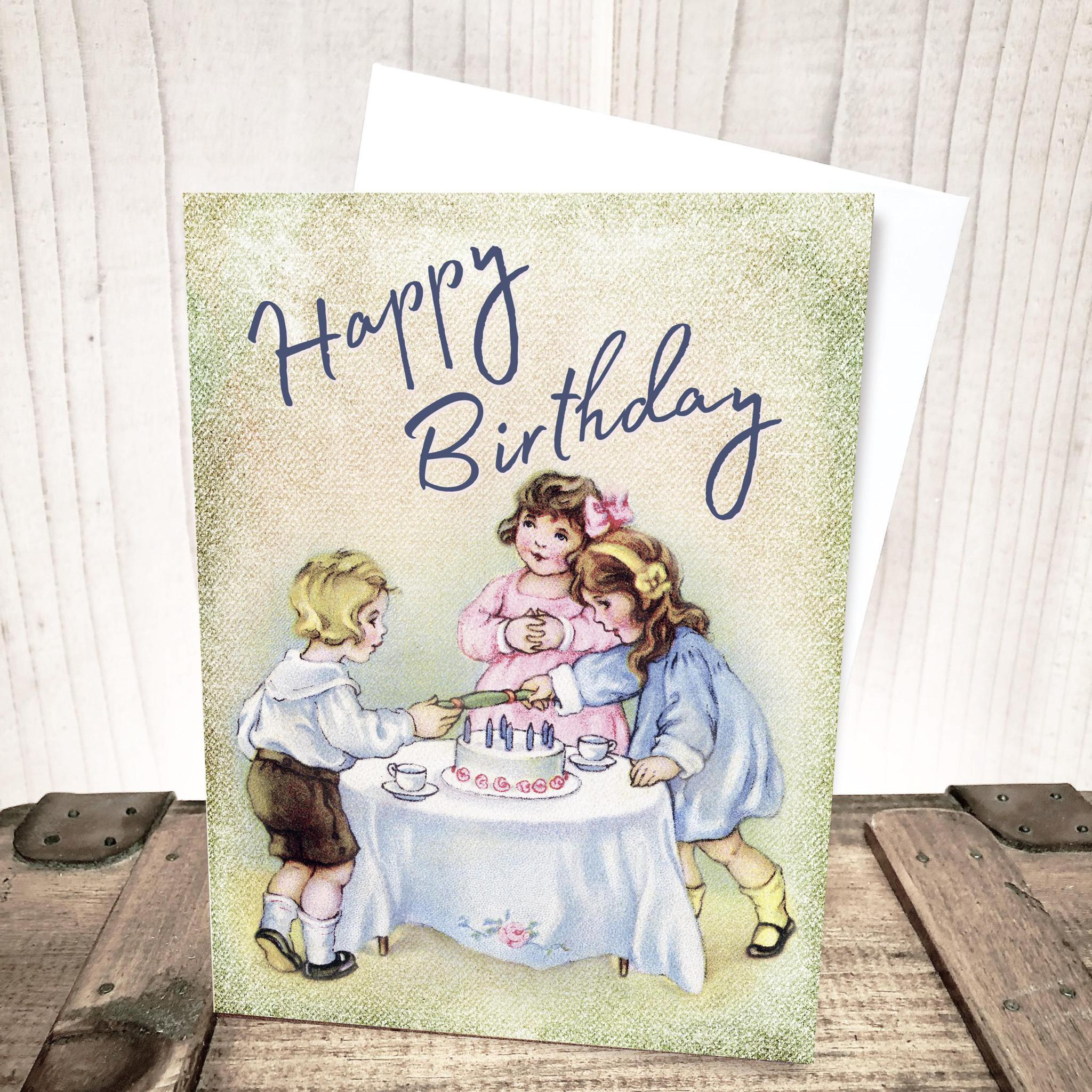 Children Happy Birthday Card by Yesterday's Best