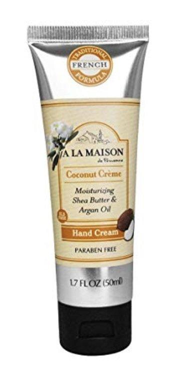 Hand Cream & Body Lotion: Moisturizing Shea Butter & Argan Oil Coconut Crème (Travel Size)
