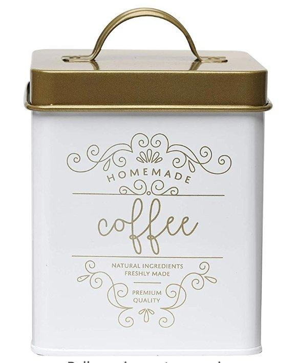Harper Gold Metal Canister Coffee