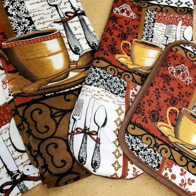 Coffee Time Kitchen Linens
