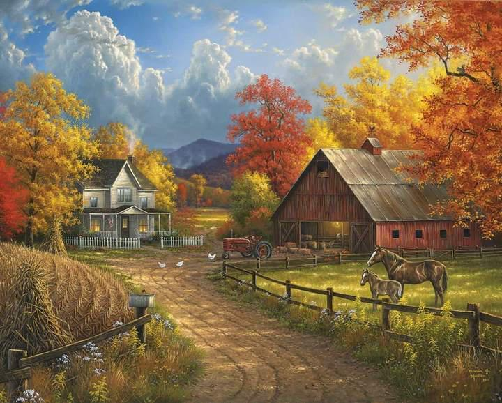 Country Blessing 1000 Piece Jigsaw Puzzle by White Mountain Puzzle