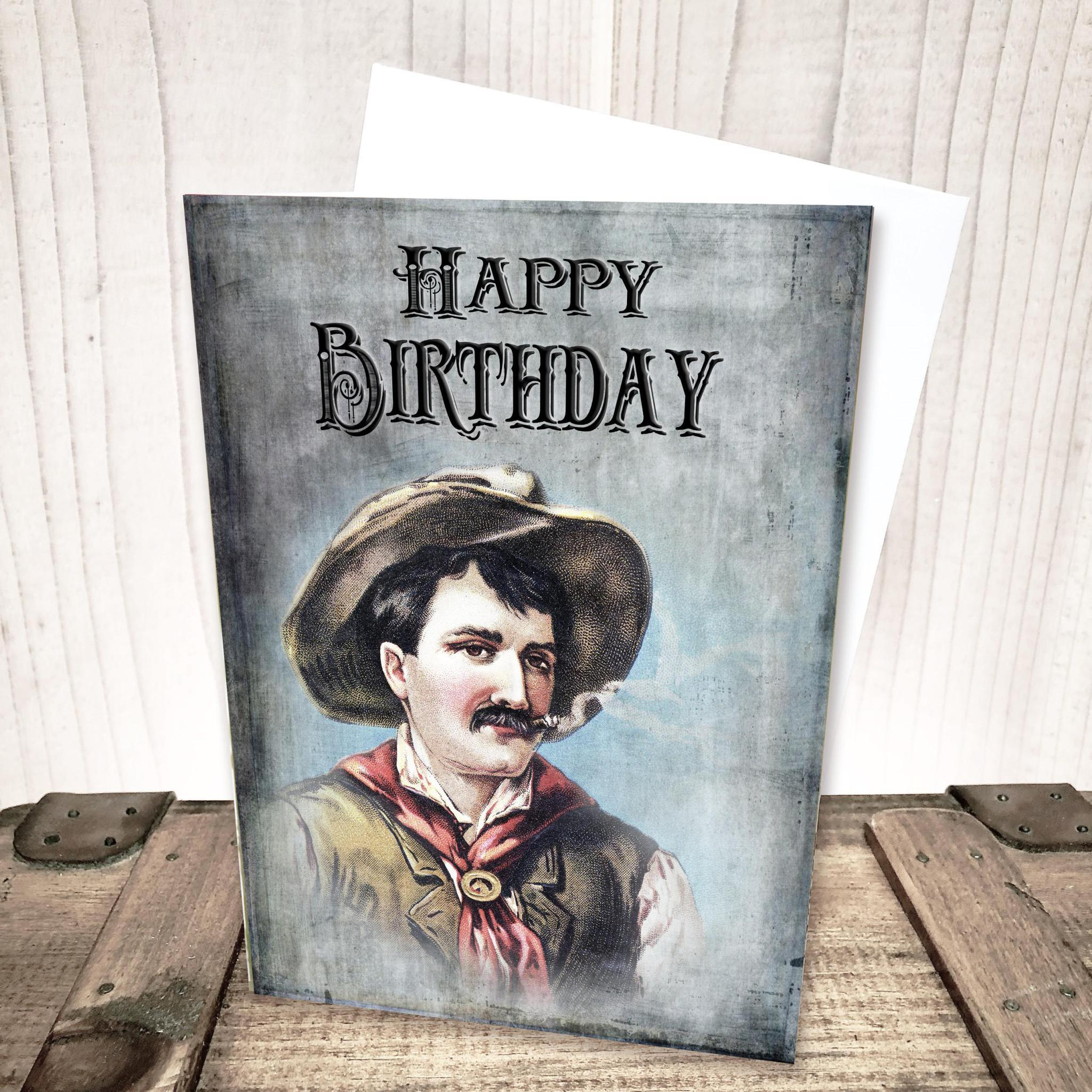 Cowboy Birthday Card by Yesterday's Best