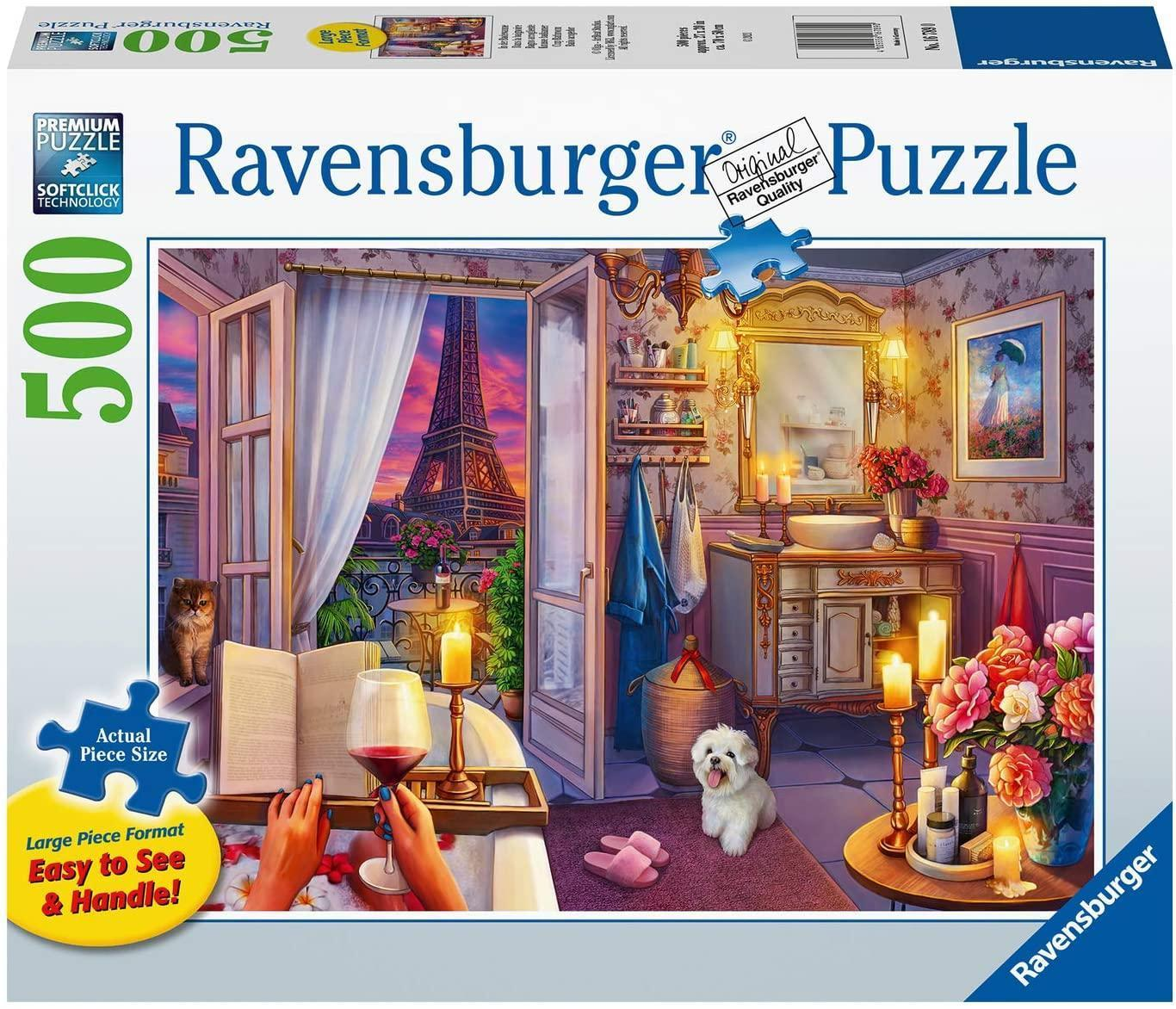 Cozy Bathroom 500 Piece Jigsaw Puzzle