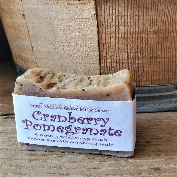 Fern Valley Goat Milk Soap Bars Cranberry Pomegranate