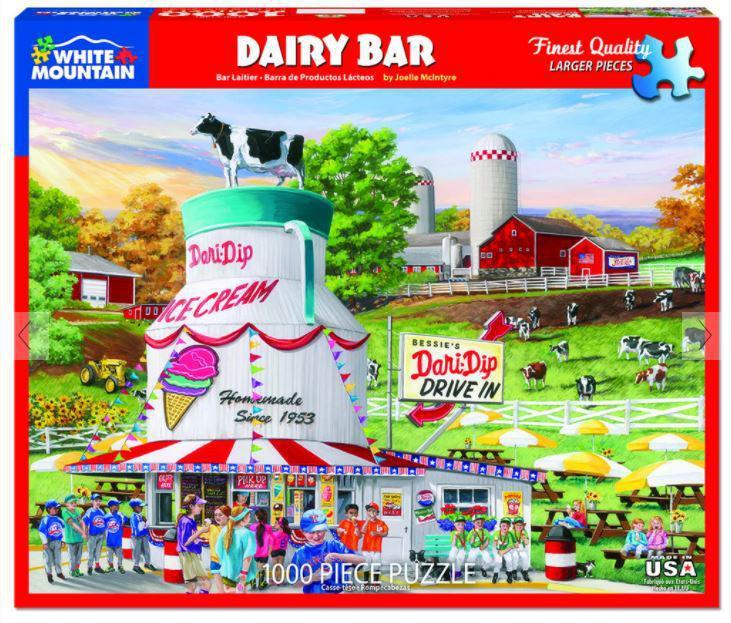 Dairy Bar 1000 Piece Jigsaw Puzzle by White Mountain Puzzle