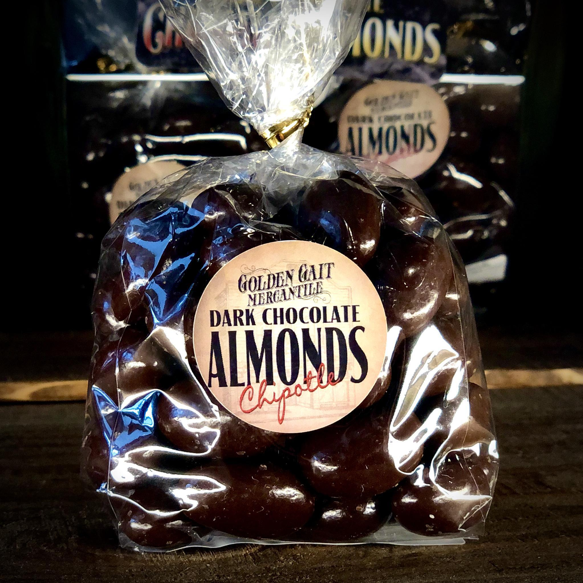 Dark Chocolate Chipotle Almonds By The Golden Gait Mercantile