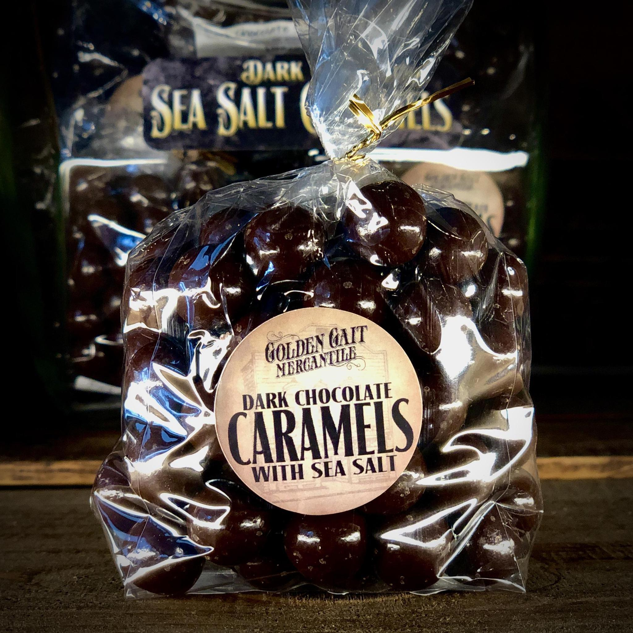 Dark Chocolate Sea Salt Caramels by Golden Gait Mercantile