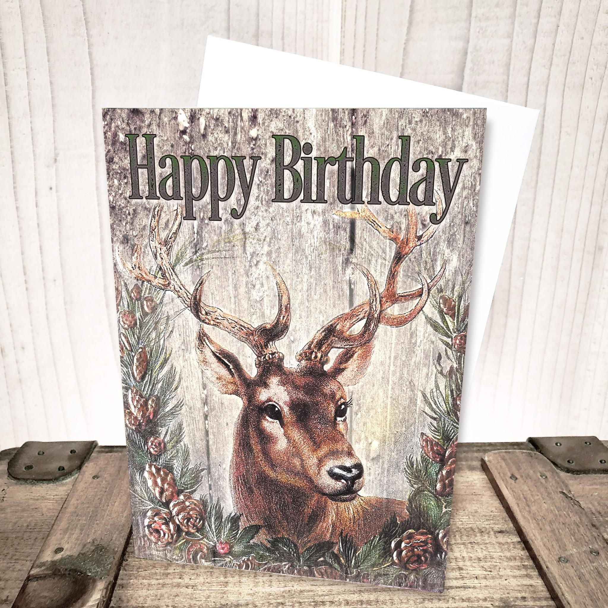 Deer Birthday Card by Yesterday's Best