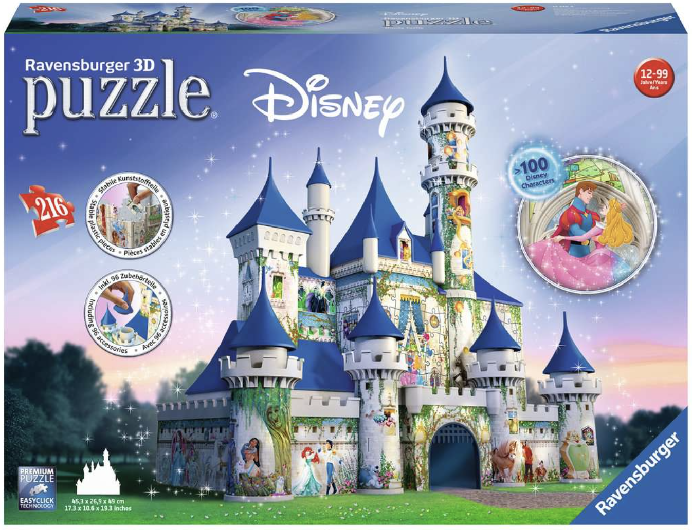 Disney Princess 3D Castle 216 Piece 3D Puzzle by Ravensburger