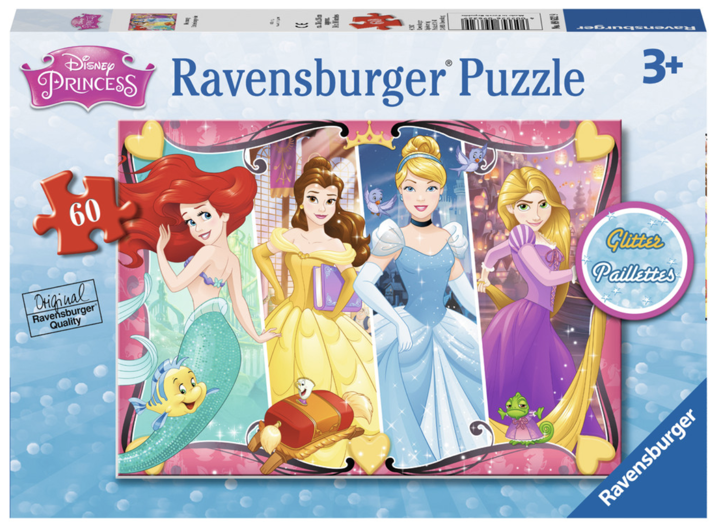 Disney Princess Heartsong 60 Piece Glitter Puzzle by Ravensburger