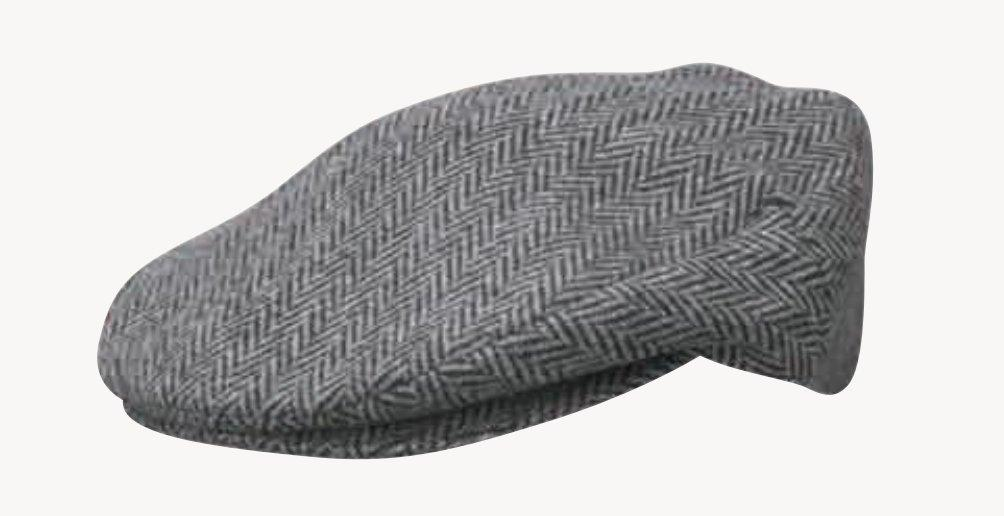 Duke Grey Herringbone Wool Blend Ivy Cap DPC