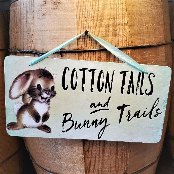 Easter Cotton Tails Decoration Sign by Yesterday's Best