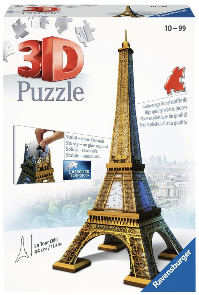 Eiffel Tower 216 Piece 3D Puzzle by Ravensburger