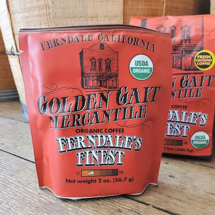 Golden Gait Mercantile Organic Coffee Samples 2 oz Ferndale's Finest 2 oz. Ground