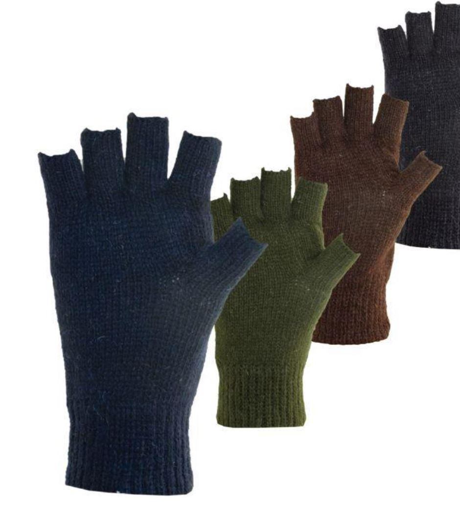 Fingerless Ragg Wool Glove with Fleece Lining, Thinsulate™ Insulation