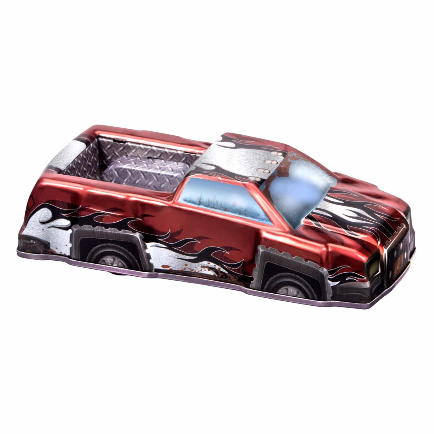 Rev-Up Racers Tin Trucks Fire Red
