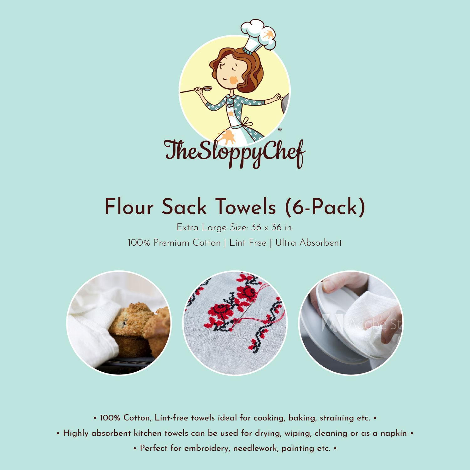 Flour Sack Towels 100% Cotton