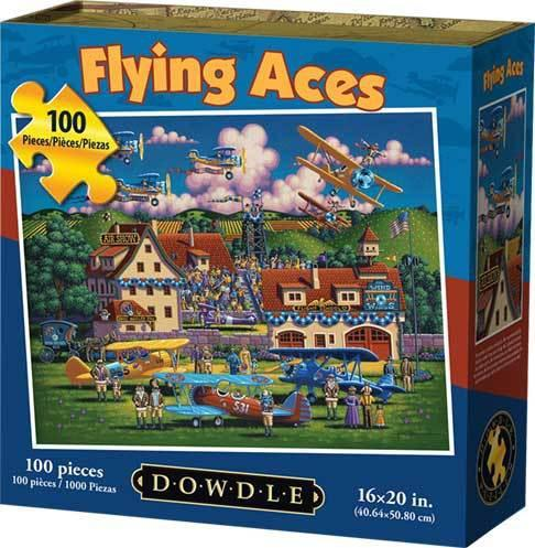 Flying Aces 100 Piece Puzzle by Dowdle Folk Art