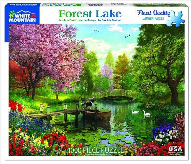 Forest Lake 1000 Piece Jigsaw Puzzle by White Mountain Puzzle