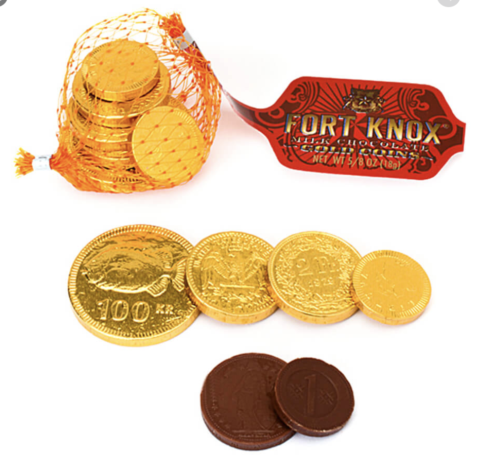 Fort Knox Milk Chocolate Coins