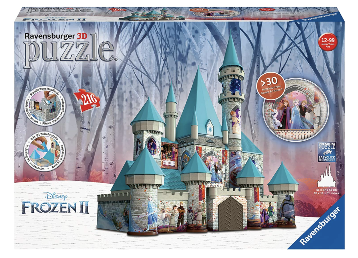 Frozen Castle 216 Piece 3D Puzzle by Ravensburger