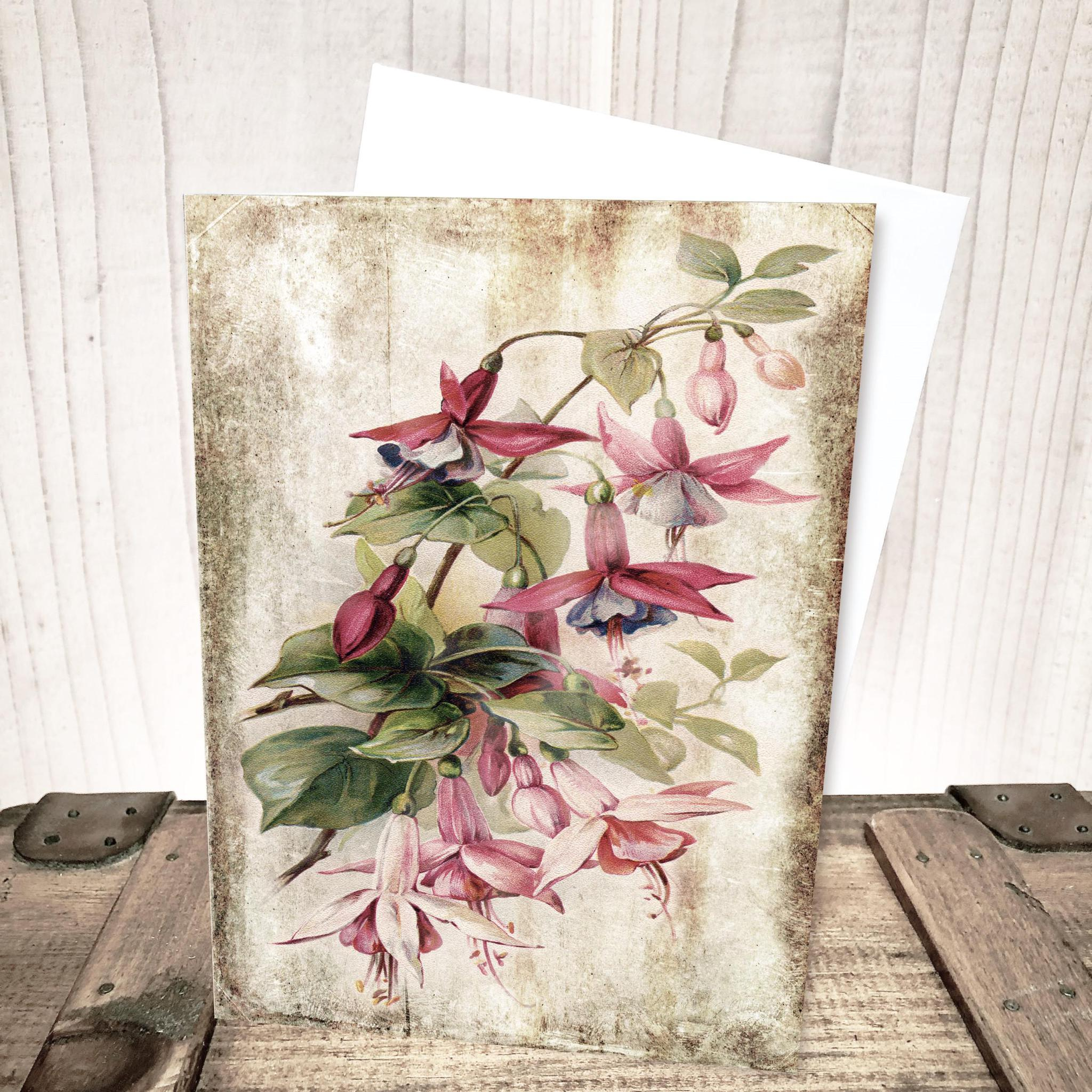 Fuchsia Floral Everyday Card by Yesterday's Best