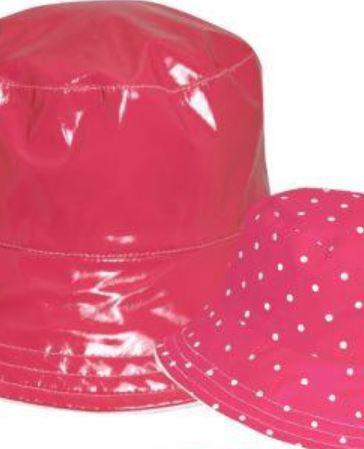 Reversible Women's Rain Hat Fushia