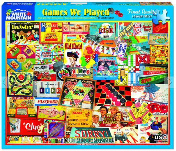 Games We Played 1000 Piece Jigsaw Puzzle by White Mountain Puzzles